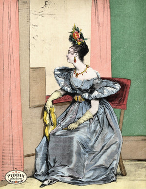 Pdxc3261 -- French Ladies Color Illustration