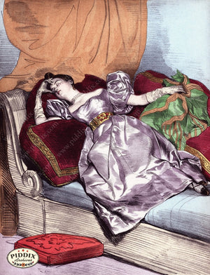 Pdxc3268 -- French Ladies Color Illustration