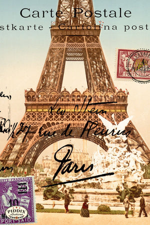 Pdxc3867A & B -- Travel Postcards Original Collage