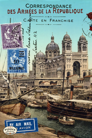 Pdxc3871A -- Travel Postcards Original Collage