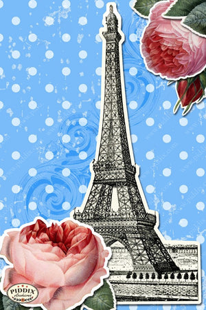 Pdxc3905 -- French Florals Original Collage