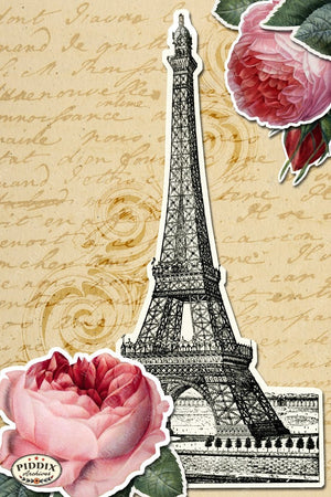 Pdxc3906 -- French Florals Original Collage