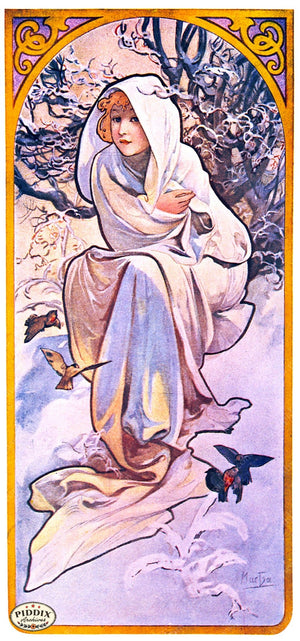 Pdxc4185D -- French Posters Color Illustration