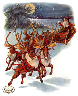 Pdxc4258 -- The Night Before Christmas Color Illustration