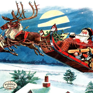 Pdxc4262B -- The Night Before Christmas Color Illustration