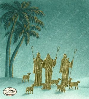 Pdxc4450 -- Christmas Manger Wise Men Virgin Mary Color Illustration
