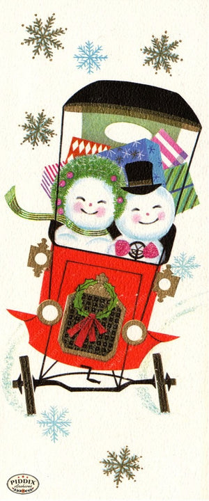 Pdxc4466 -- Snowmen Women Color Illustration