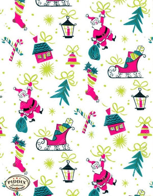 Pdxc4513 A & B -- Christmas Patterns Color Illustration