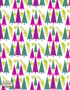 Pdxc4519B -- Christmas Patterns Color Illustration