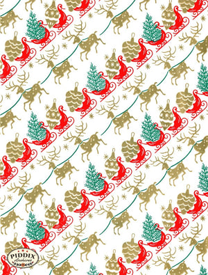 Pdxc4521 -- Christmas Patterns Color Illustration