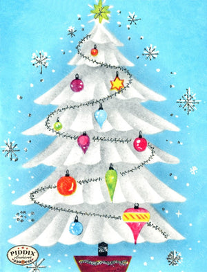 Pdxc4617 -- Christmas Trees Color Illustration