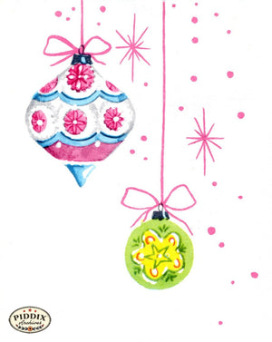 Pdxc4617 -- Christmas Ornaments Color Illustration