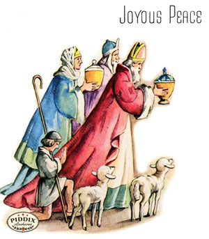 Pdxc4620A -- Christmas Manger Wise Men Virgin Mary Color Illustration