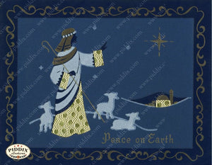 Pdxc4635 -- Christmas Manger Wise Men Virgin Mary Color Illustration