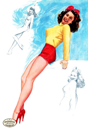 Pdxc4875 -- Pin-Ups Color Illustration