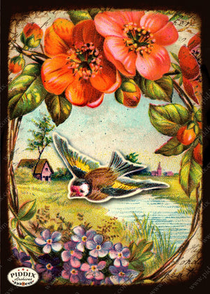 Pdxc5123 -- Flora & Fauna Original Collage