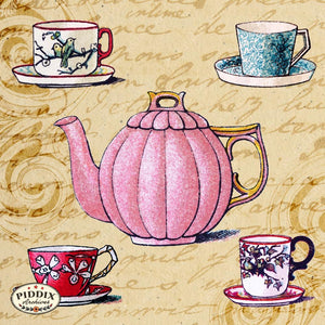 Pdxc5214 -- Tea And Coffee Color Illustration