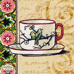 Pdxc5215 -- Tea And Coffee Color Illustration