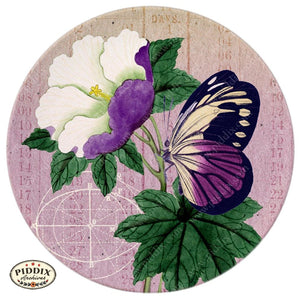 Pdxc5728 Butterfly Botanical Original Collage