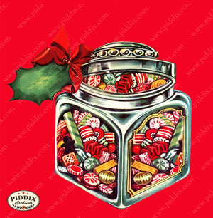 Pdxc6122B -- Christmas Candy Color Illustration