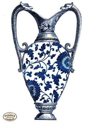 Pdxc6342B -- Chinoiserie Vases Color Illustration