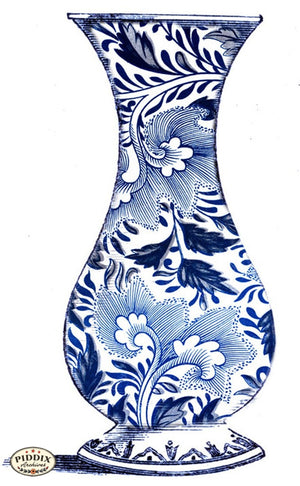 Pdxc6348C -- Chinoiserie Vases Color Illustration