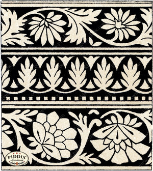 Pdxc6503 -- Patterns Black & White Lithograph