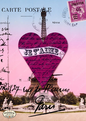 Pdxc7899 -- City Of Love Original Collage