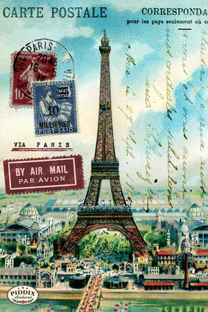 Pdxc7914 A & B -- Travel Postcards Original Collage