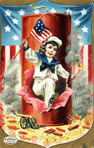 Pdxc7935B -- Fourth Of July Postcard