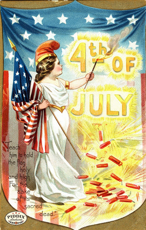 Pdxc7937 -- Fourth Of July Postcard