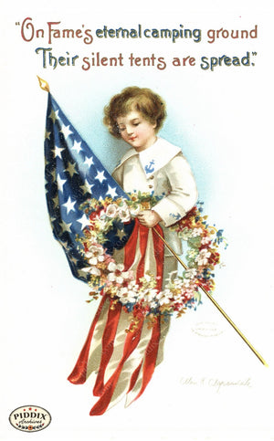 Pdxc7945 -- Fourth Of July Postcard