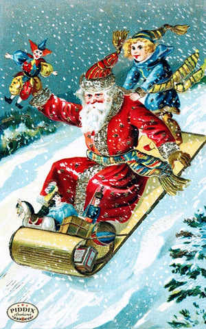 Pdxc7987B -- Santa Claus Color Illustration