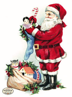 Pdxc8176B -- Santa Claus Color Illustration