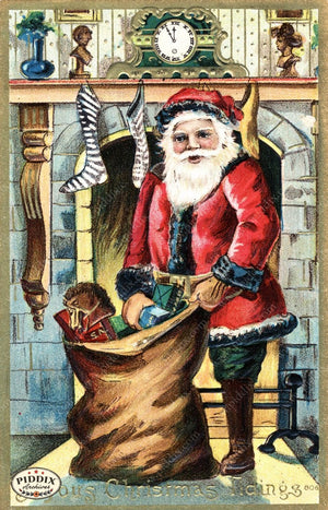 Pdxc8179 -- Santa Claus Color Illustration