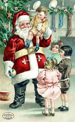 Pdxc8180 A & B -- Santa Claus Color Illustration