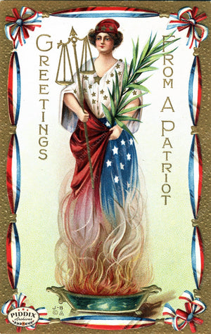 Pdxc8356 -- Fourth Of July Postcard