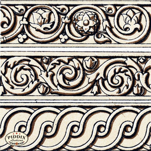 Pdxc8445 -- Patterns Black & White Lithograph
