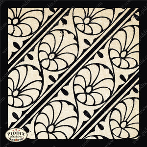 Pdxc8451 -- Patterns Black & White Lithograph