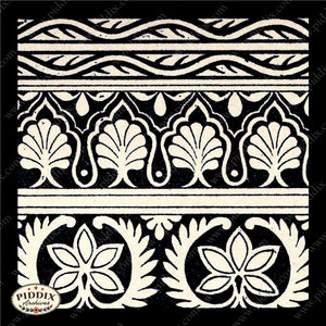 Pdxc8455 -- Patterns Black & White Lithograph