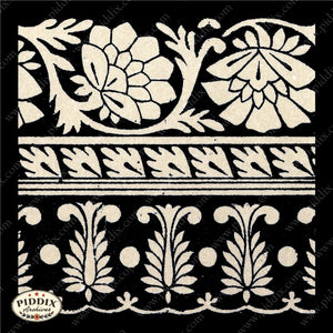 Pdxc8457 -- Patterns Black & White Lithograph