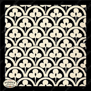 Pdxc8458 -- Patterns Black & White Lithograph