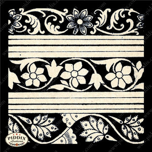 Pdxc8459 -- Patterns Black & White Lithograph