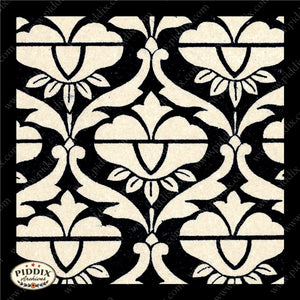 Pdxc8460 -- Patterns Black & White Lithograph