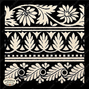 Pdxc8461 -- Patterns Black & White Lithograph