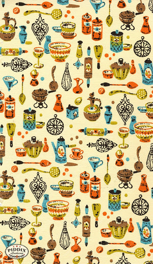 Pdxc8816A B & C -- Mid-Century Patterns Color Illustration