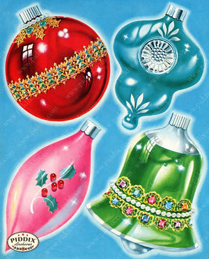 Pdxc9009 -- Christmas Ornaments Color Illustration