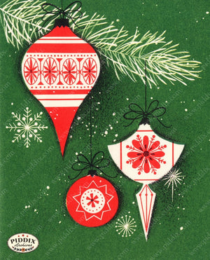 Pdxc9046 -- Christmas Ornaments Color Illustration