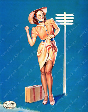 Pdxc9389A -- Pin-Ups Color Illustration