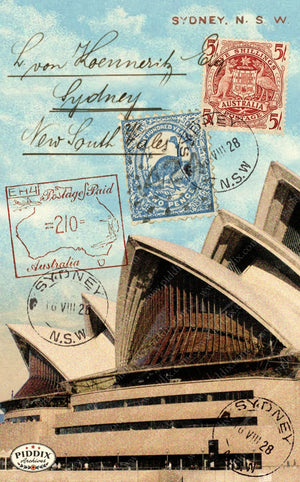 Pdxc9542 -- Travel Postcards Original Collage
